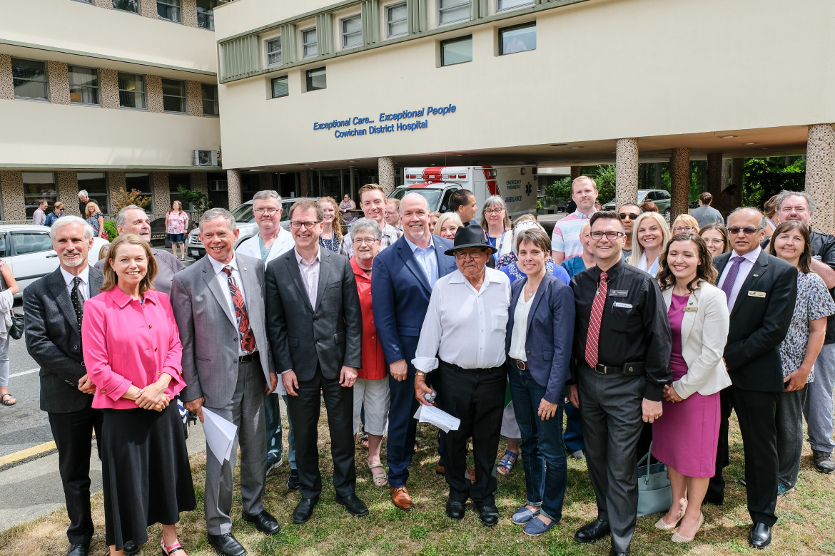 cowichan district hospital redevelopment announcement