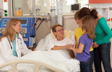 Visiting somebody in the hospital at Island Health