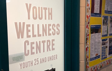 Youth Wellness Centre entrance