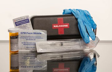 unpacked naloxone kit