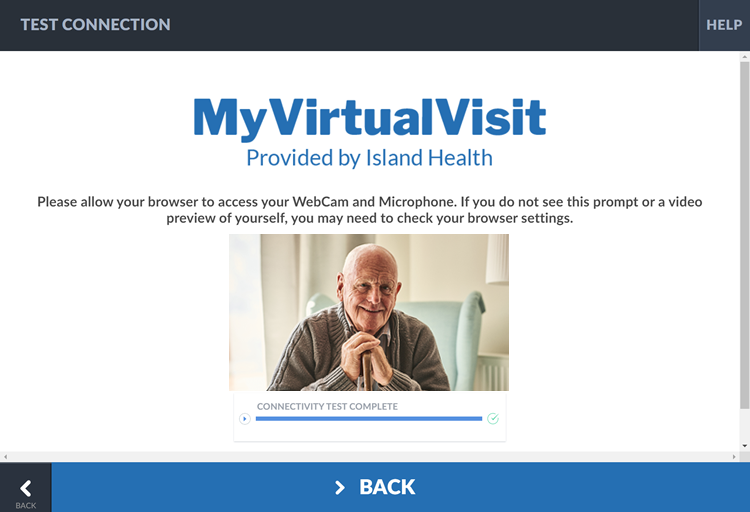 Sample successful MyVirtualVisit video connection